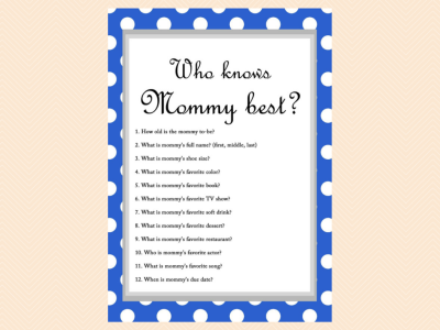 Free Baby Shower Game Who Knows Mommy Best Joi Baby Shower