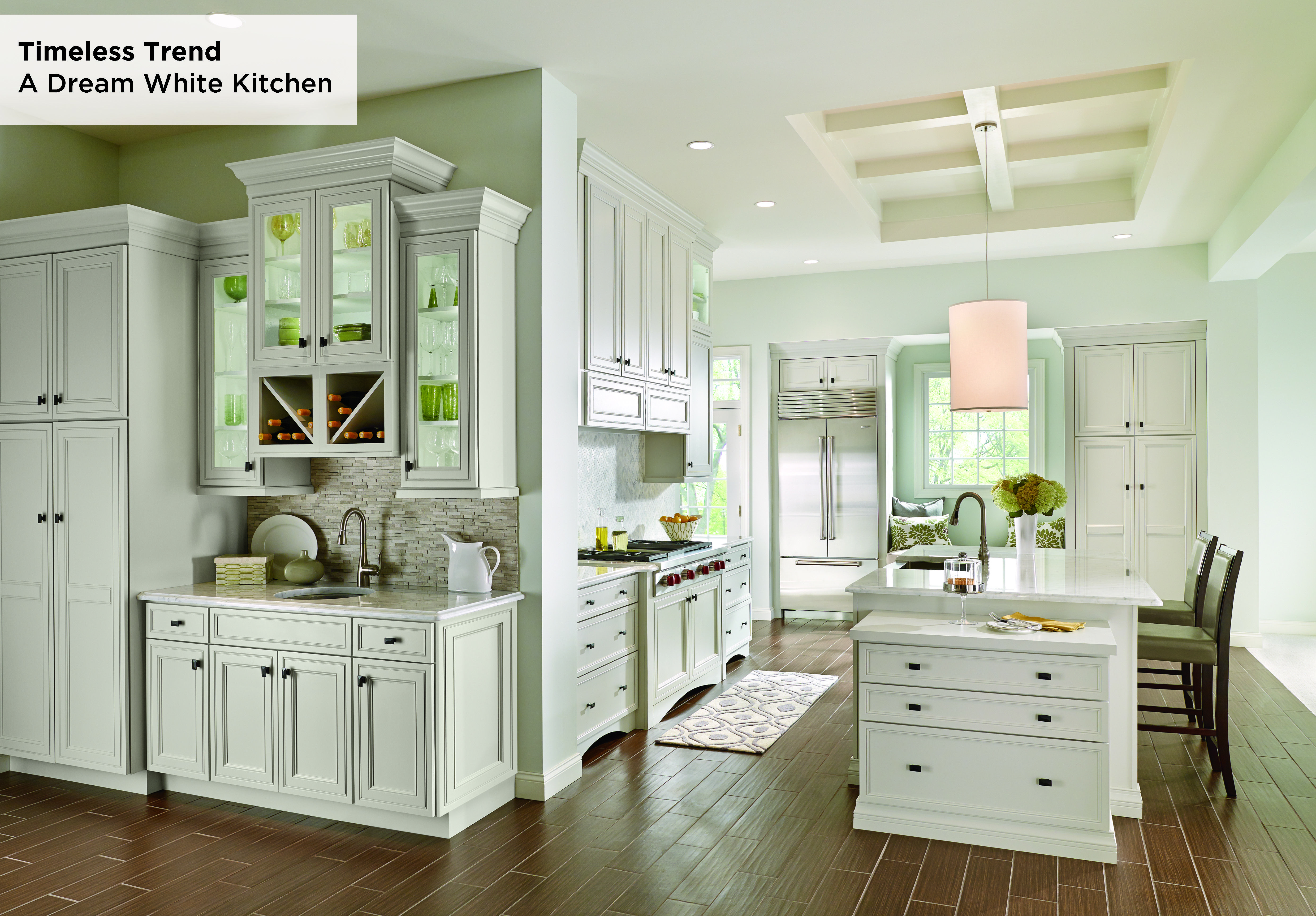 This Transitional Kitchen Offers Easy Entertaining With A Timeless