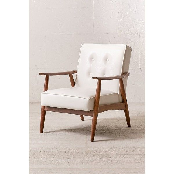 Wyatt Vegan Leather Chair ($349) ❤ Liked On Polyvore Featuring Home,  Furniture,