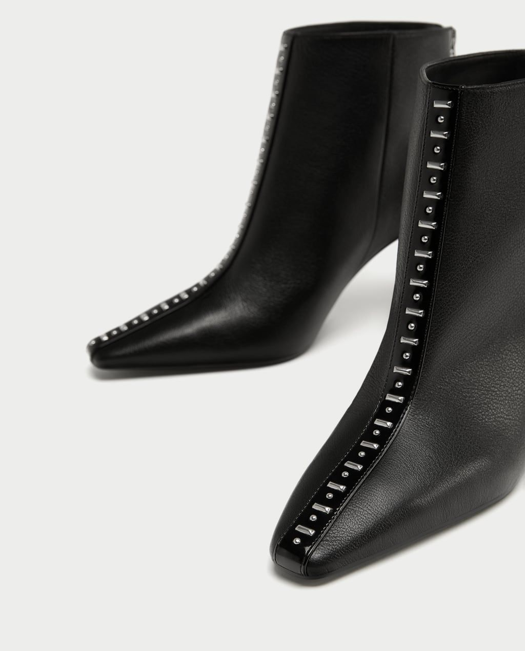 22dd7295652b HIGH HEEL LEATHER ANKLE BOOTS WITH STUDS-View all-SHOES-WOMAN