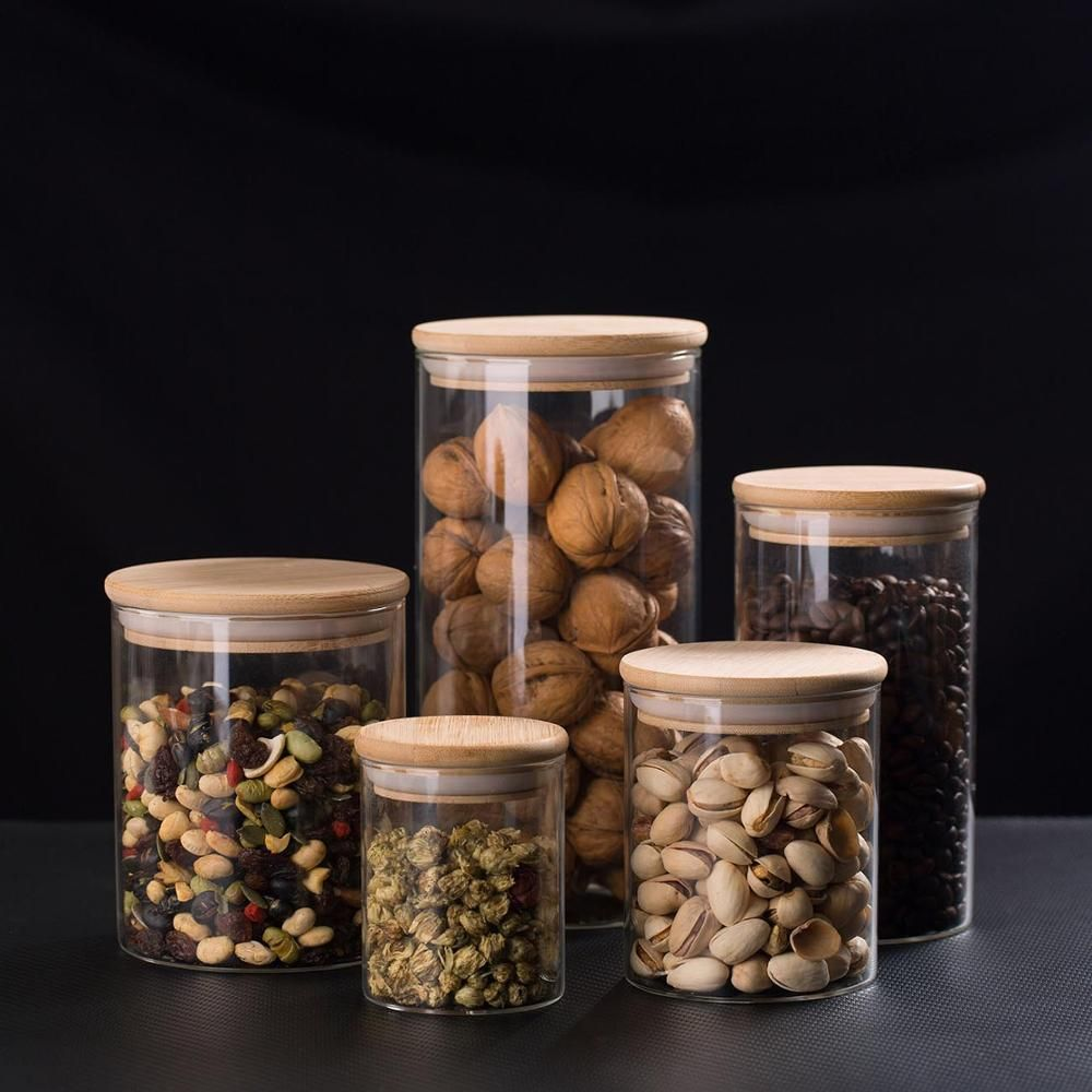 8.05US $ 24% OFF|250/450/650/750/1300ML Kitchen Airtight Sealed Container Food Preserve Cans Tank With Bamboo Lid Dried Fruit Snacks Storage Box|Bottles,Jars & Boxes|   - AliExpress