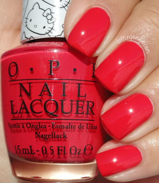 OPI — 5 Apples Tall (Hello Kitty Collection | January 2016) | Pretty ...