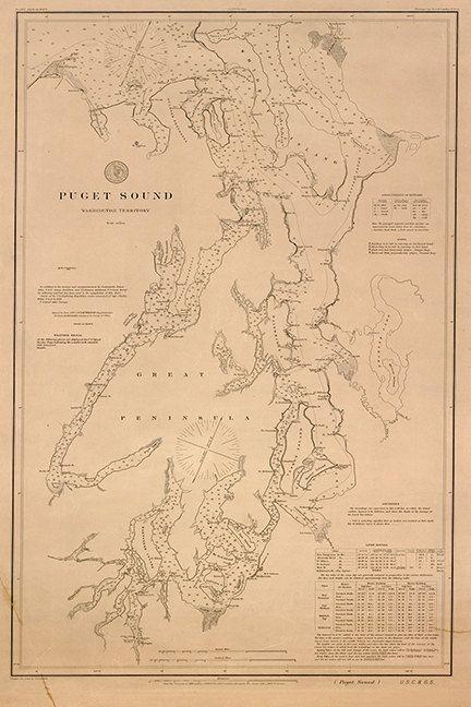 Nautical charts of Puget Sound, Washington Territory, 1889