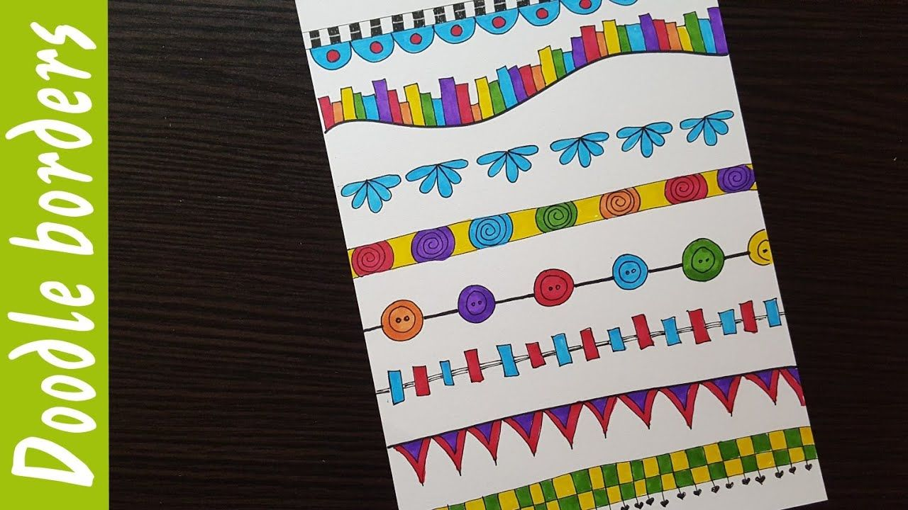Easy Doodle Borders Ideas For School Projects Cards Bullet