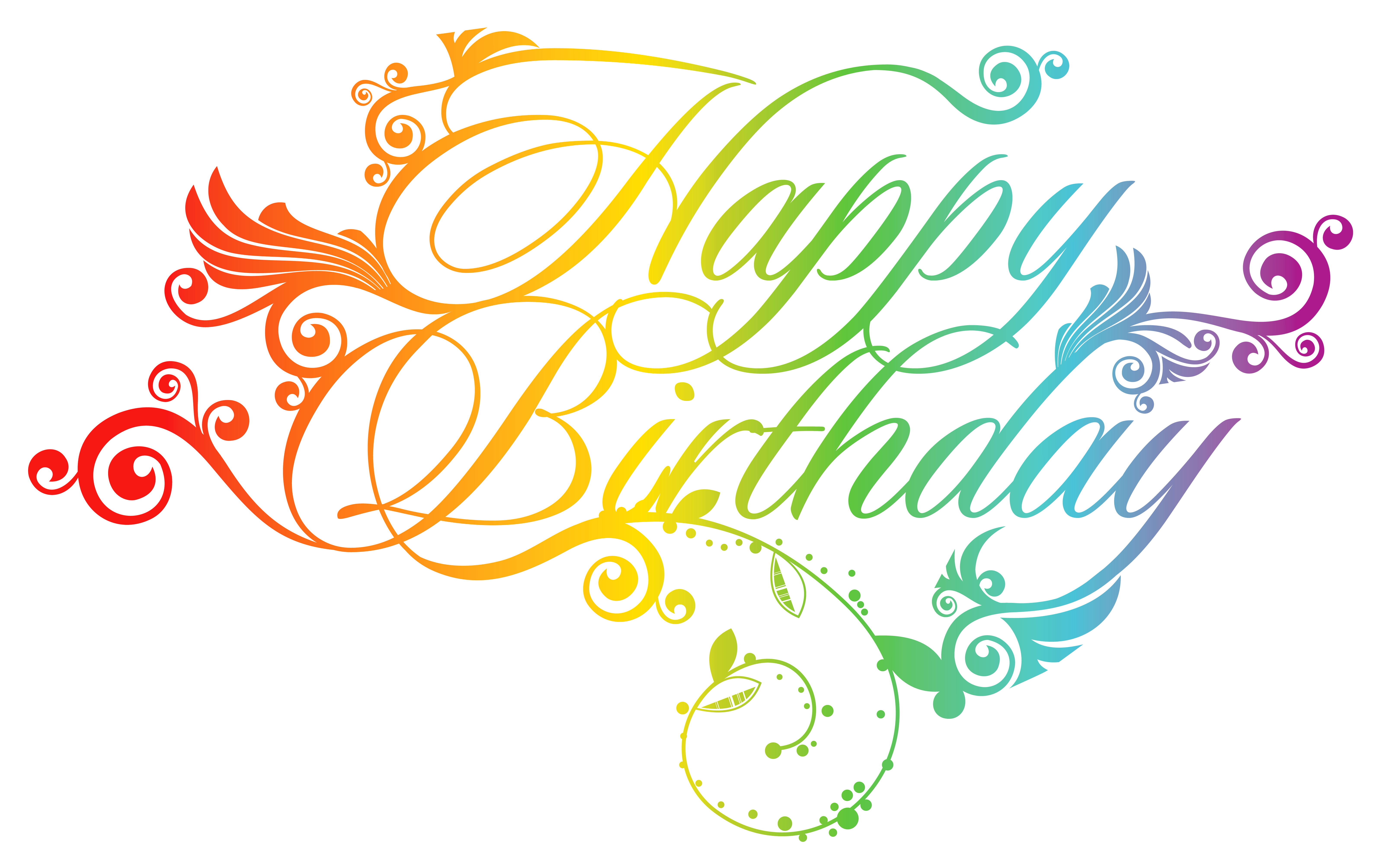 Colorful Happy Birthday PNG Clipart Picture | Happy