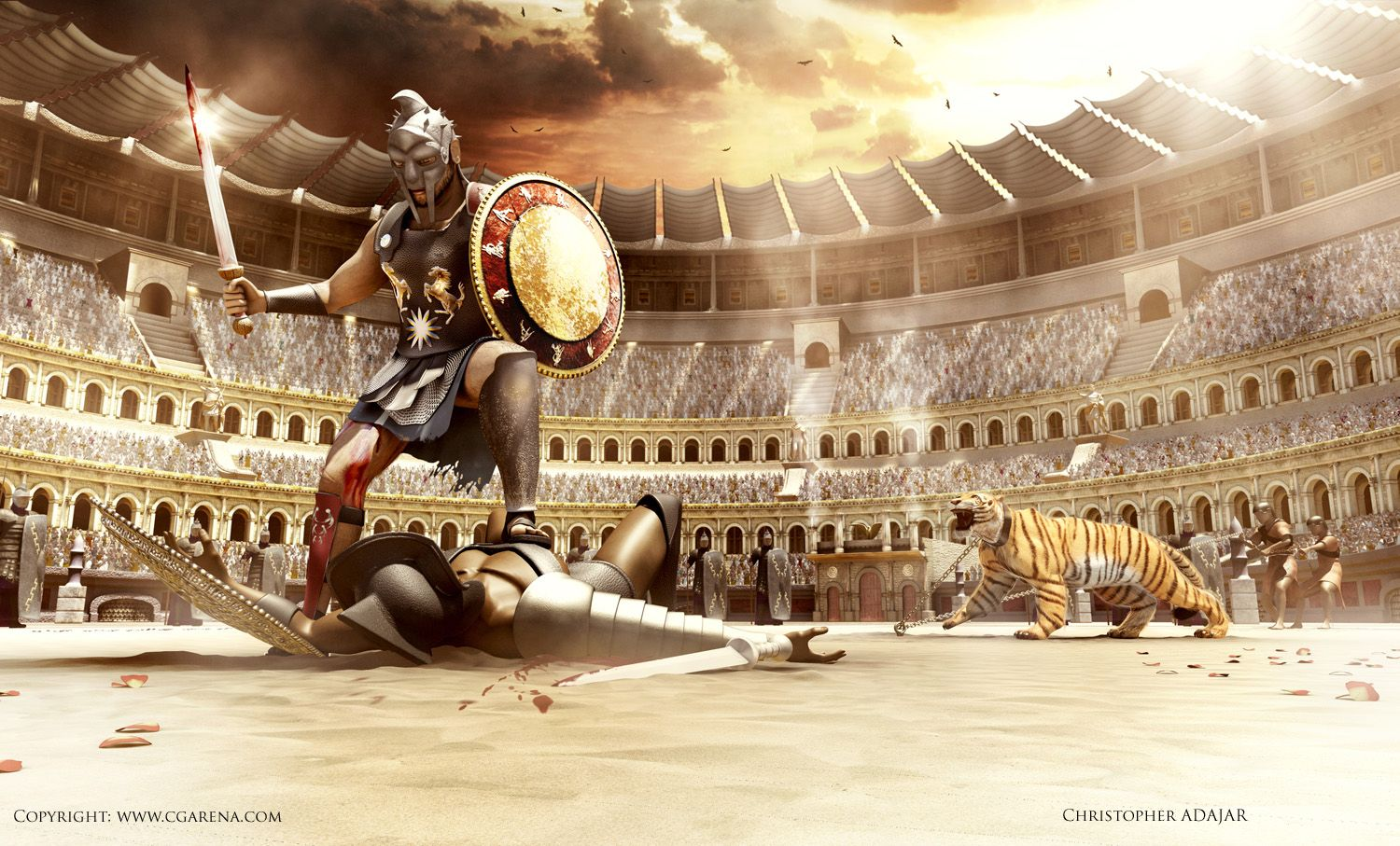 Gladiator Movie, Fan Art, CGArena 2nd Place Winner