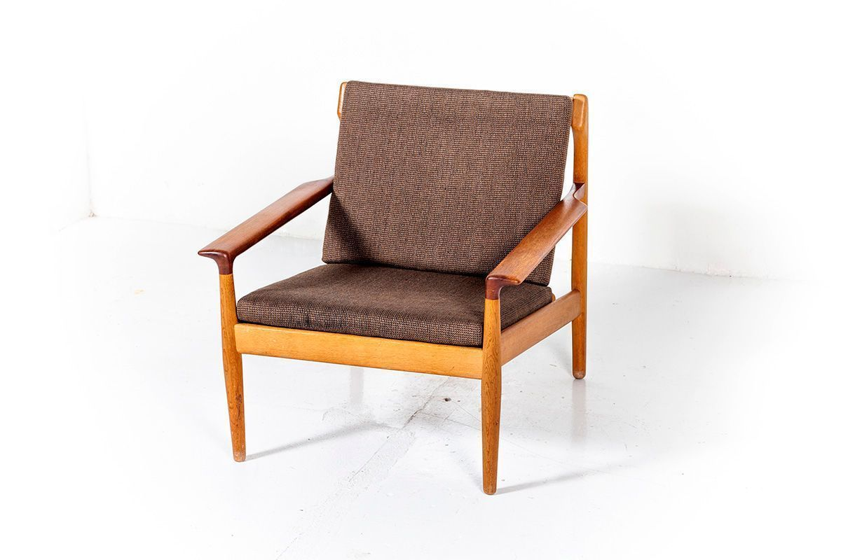 Vintage Oak Teak Lounge Chair By Aksel Bender Madsen For Bovenkamp 1960s Furniture Furniture Design Vintage Chairs