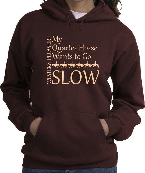 Western Pleasure Squares Horse Lovers Hooded Sweatshirt Multiple Colors wfrA4nLmp