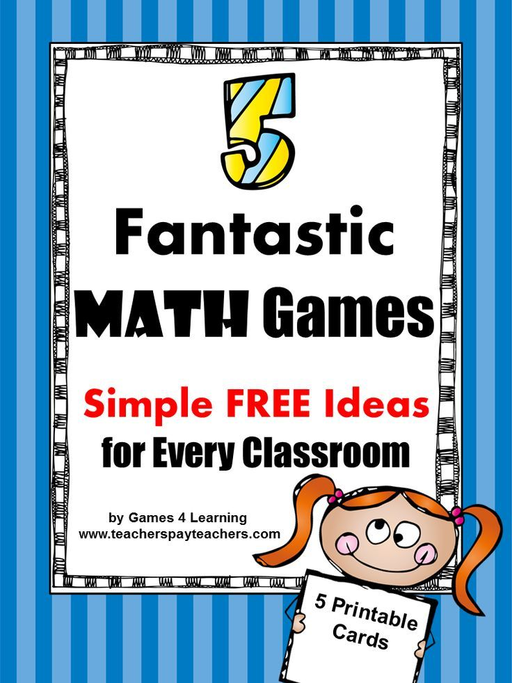 Math Games Ideas Freebie from Games 4 Learning. 5 favorite math game ...