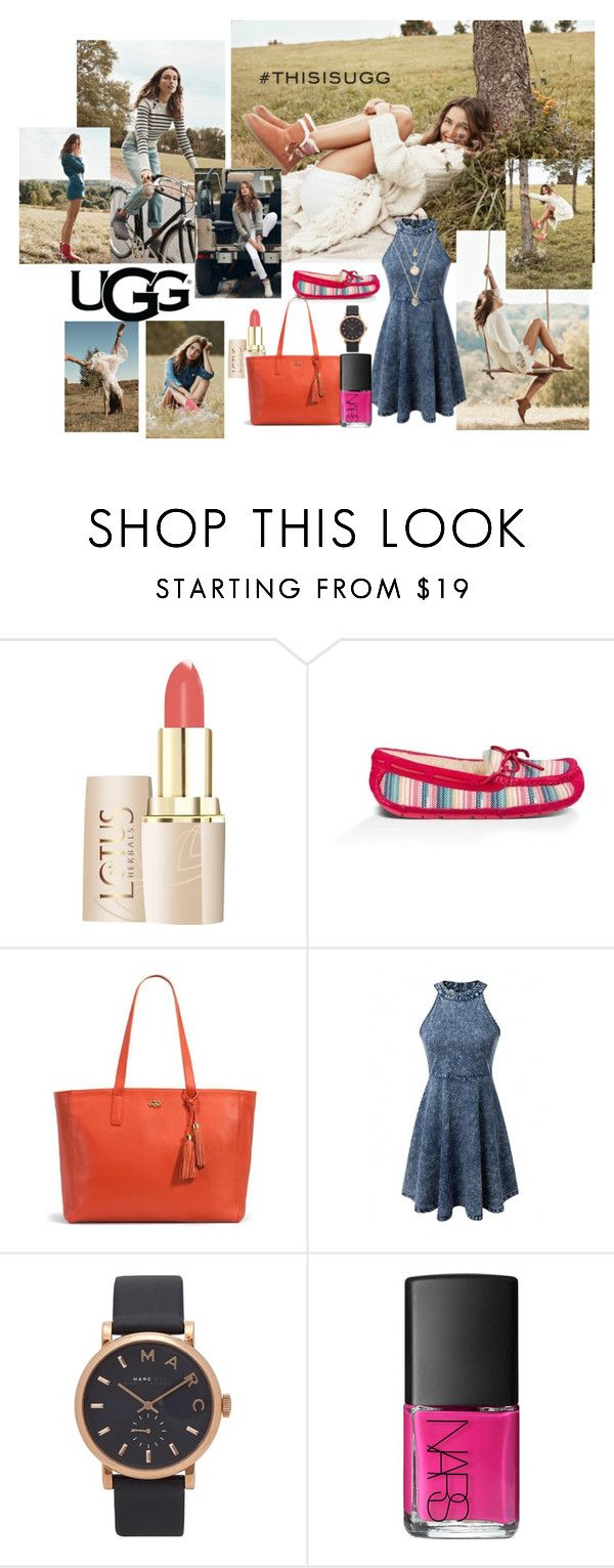 """""""Play With Prints In UGG: Contest Entry"""" by basmahahmed ❤ liked on Polyvore featuring UGG Australia, Marc Jacobs, NARS Cosmetics and thisisugg"""