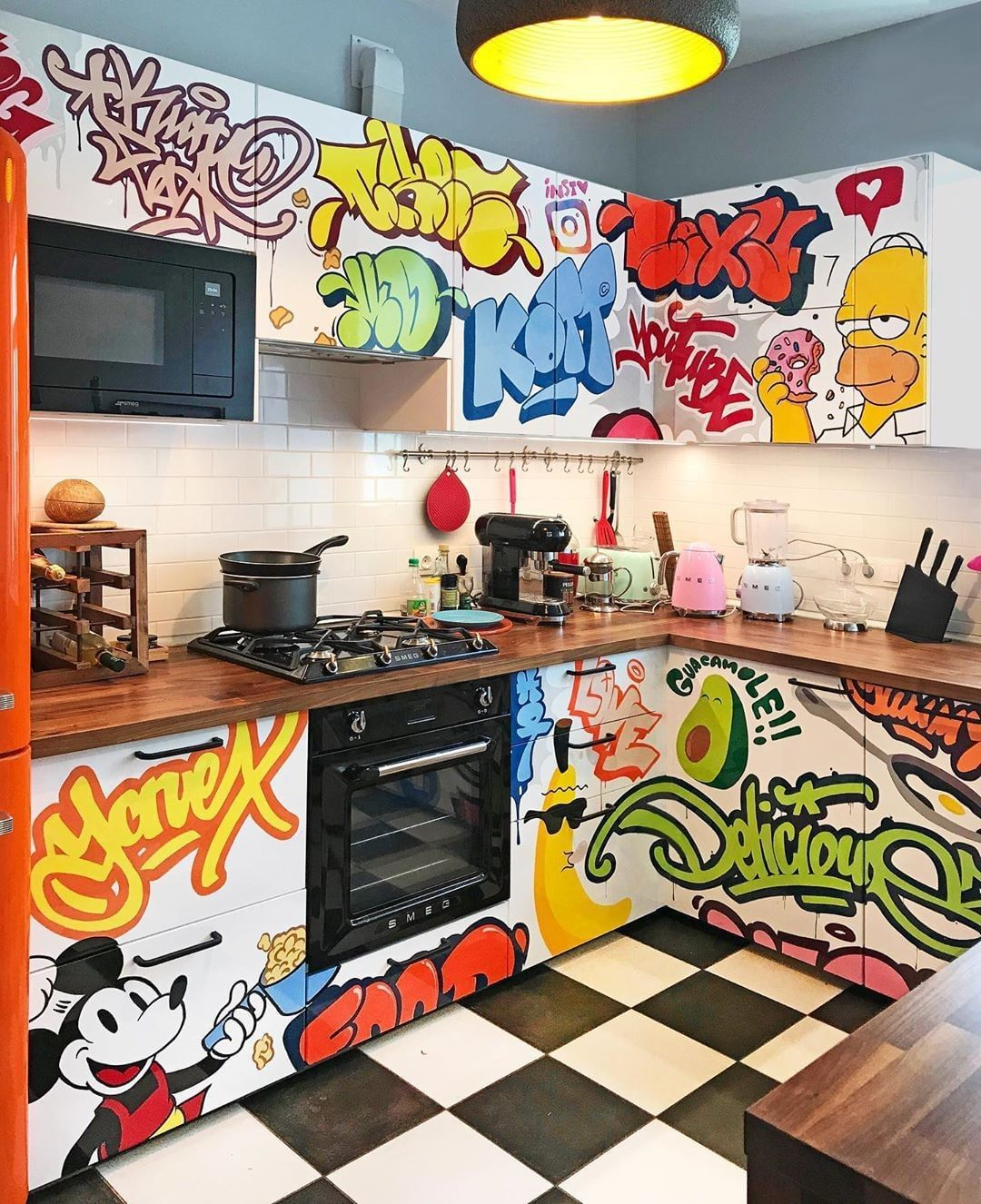 Streetviewlondon On Instagram This Is How It Looks Like When Graffiti Artists Spend Too Much Time At Home And In 2020 Graffiti Furniture Home Room Design Home Decor