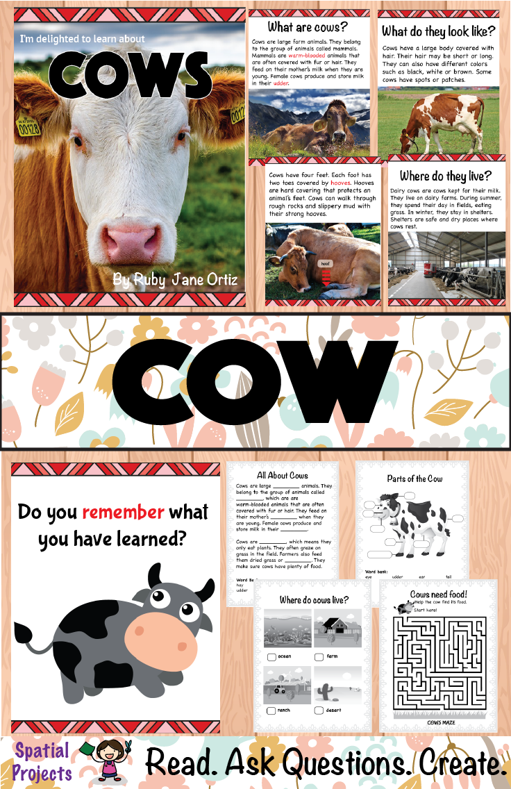 All About Cows Nonfiction Unit Literacy Center Activity Writing Activities Farm Animals Activities [ 1136 x 736 Pixel ]