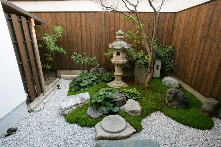 kleinen japanischen garten anlegen moos bepflanzen kies garten pinterest kleiner. Black Bedroom Furniture Sets. Home Design Ideas
