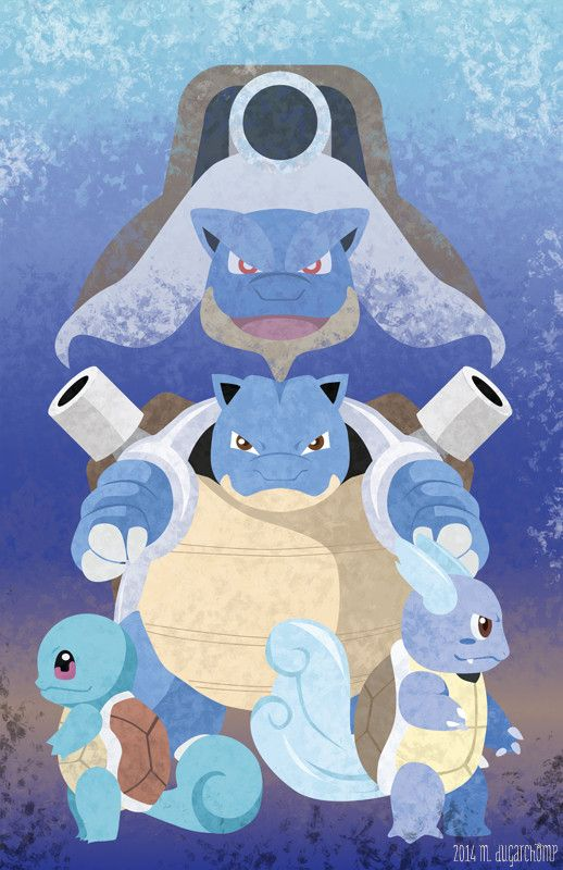Squirtle Wartortle Blastoise With Images Pokemon Blastoise Pokemon Pokemon Art