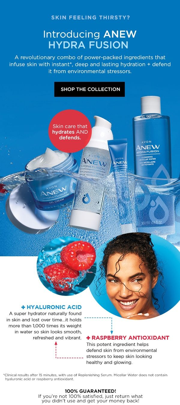 Skin feeling thirsty avonus campaign brochure has what your skin