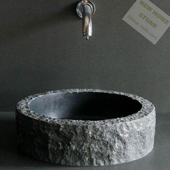 Waschbecken Marmor schwarz