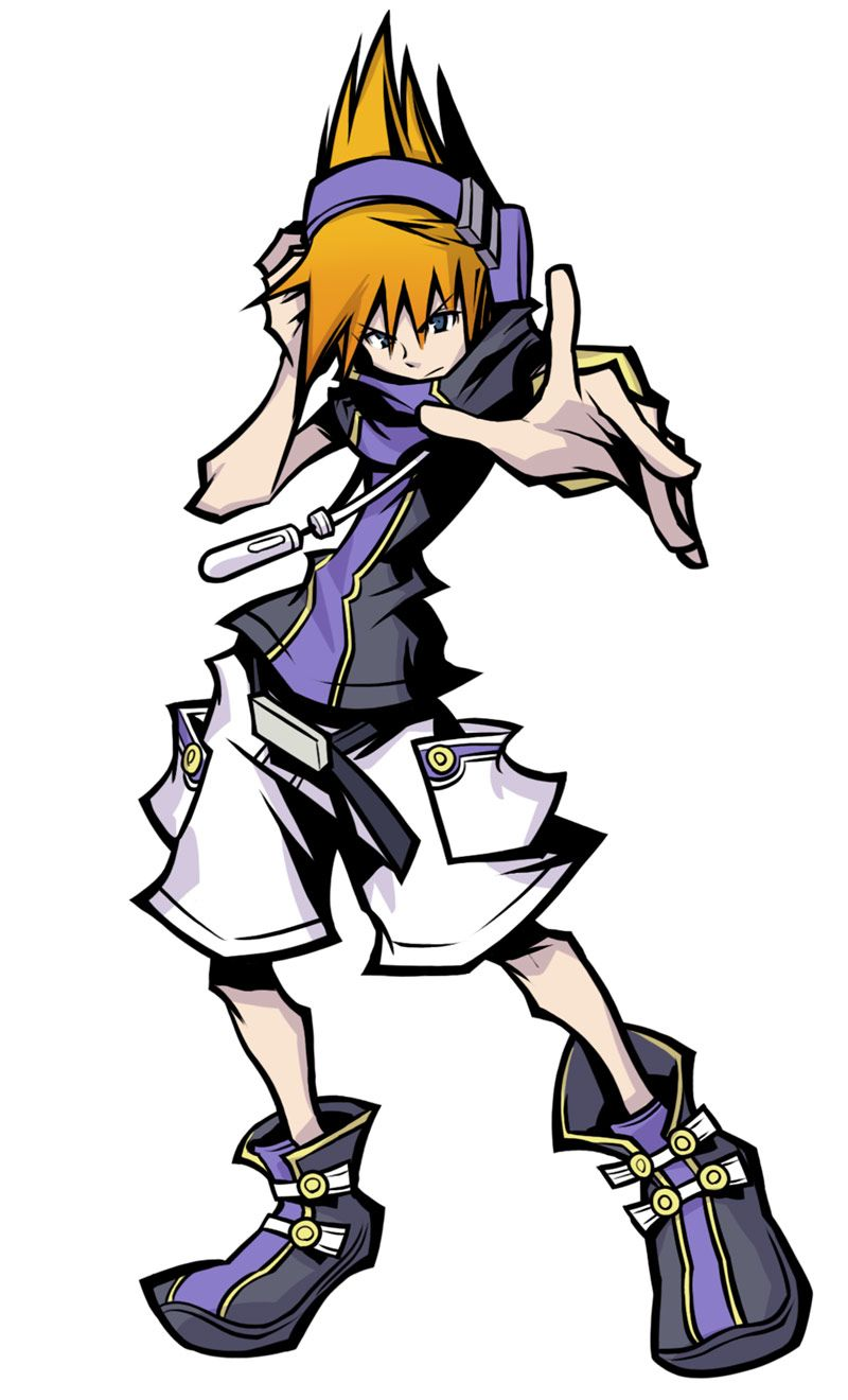 Neku Fusion Charge Character Concept Art From The World Ends With You Final Remix Art Illustratio Kingdom Hearts Art End Of The World Game Character Design