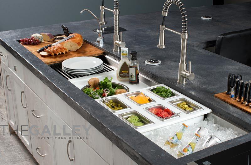 Introducing Galley Sinks An Entire Kitchen Workstation Galley