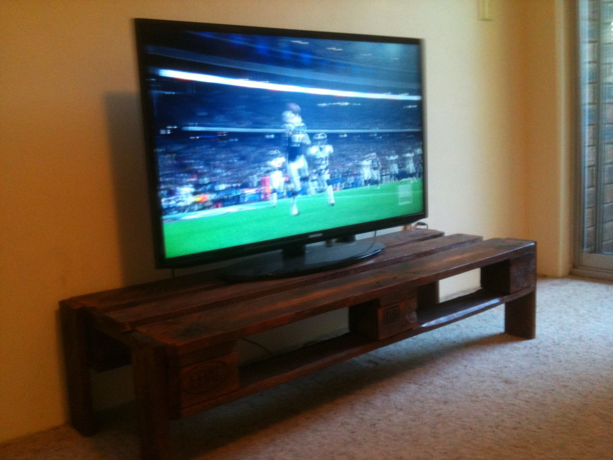 Tv stand made from recycled timber euro pallet. | Rustic projects ...