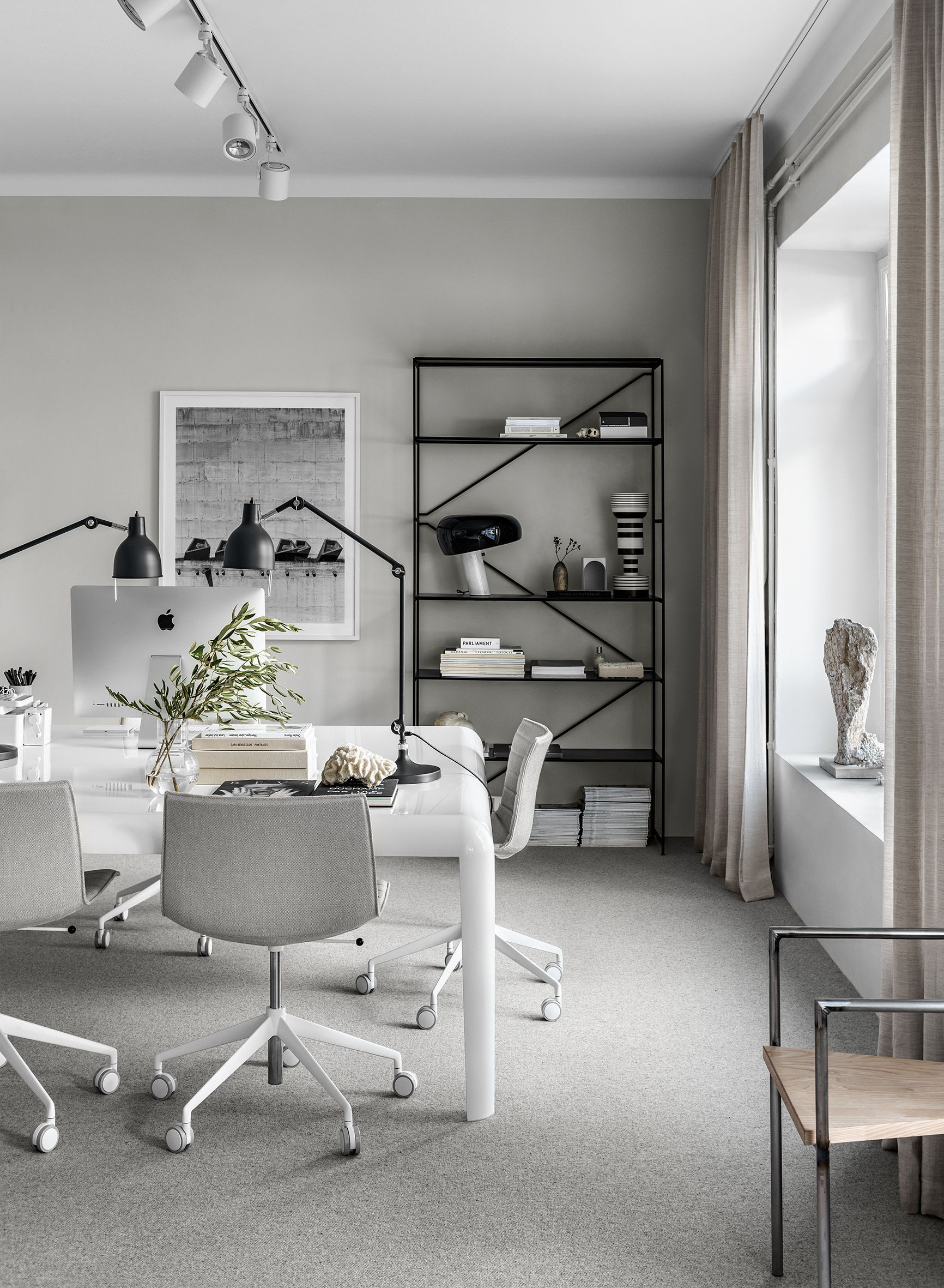 Scandinavian Design Office In 2020 Office Furniture Design Home Office Design Tiny Home Office
