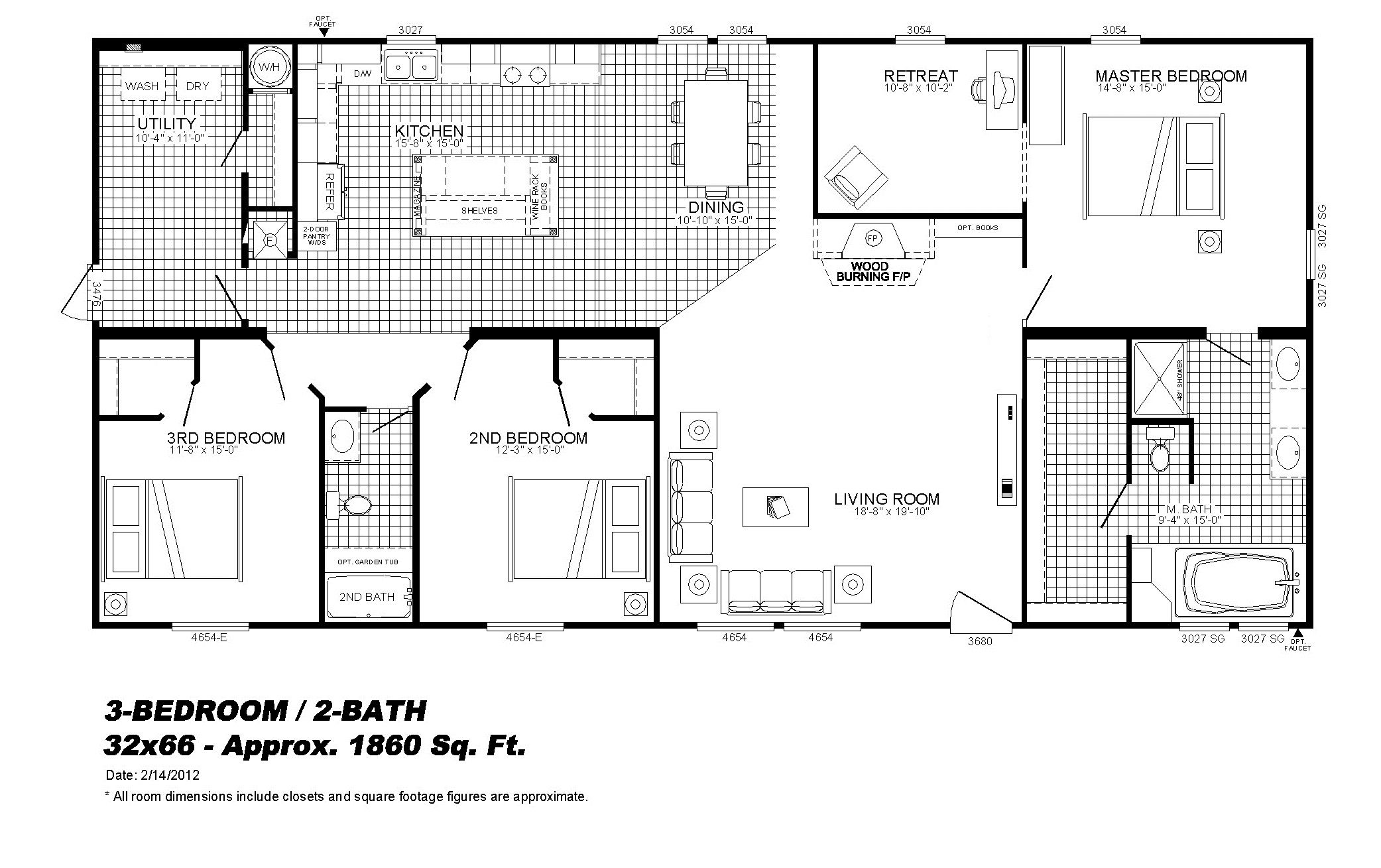 3bedrooms With Parents Retreat Don T Love This Floor Plan But I Like The Master Bedroom Layout Some Floor Plans House Plans House Floor Plans