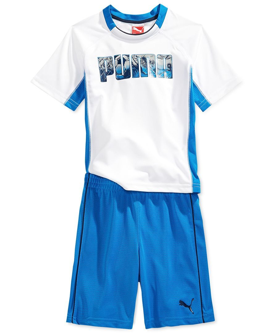 aa43b7389d06 Puma Little Boys  2-Piece Soccer Tee   Shorts
