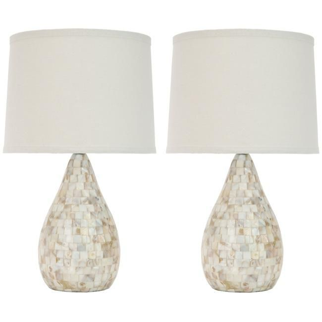 Safavieh Indoor 1-light Mother of Pearl Table Lamps (Set of 2 ...