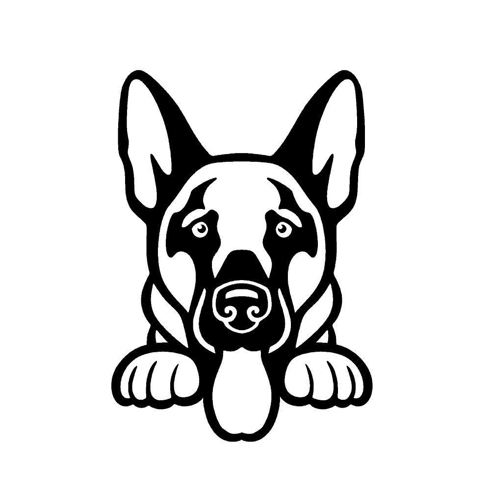 window,Car,Laptop Dog Sticker I Was Normal German Shepherd Animal Pet