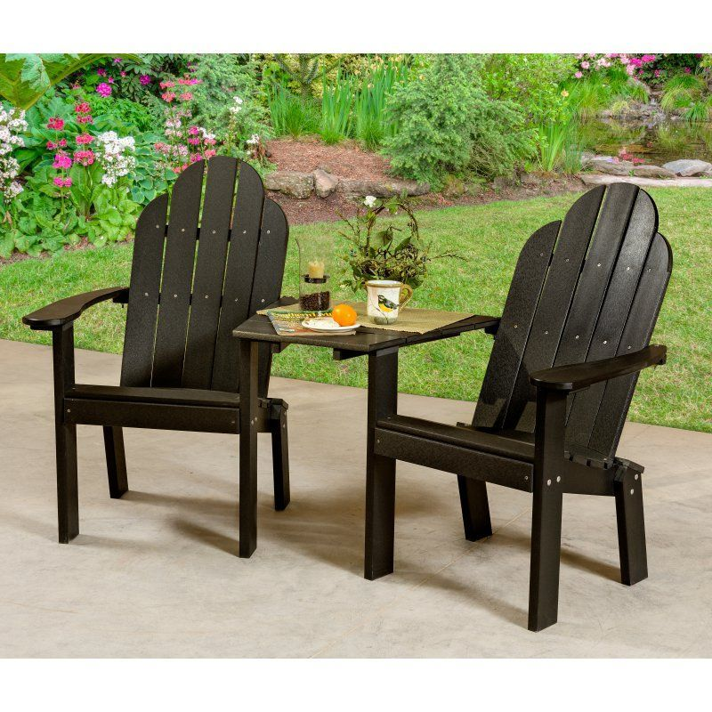 Outdoor Little Cottage Classic Tete A Tete Deck Adirondack Chair    LCC 229 CHERRYWOOD