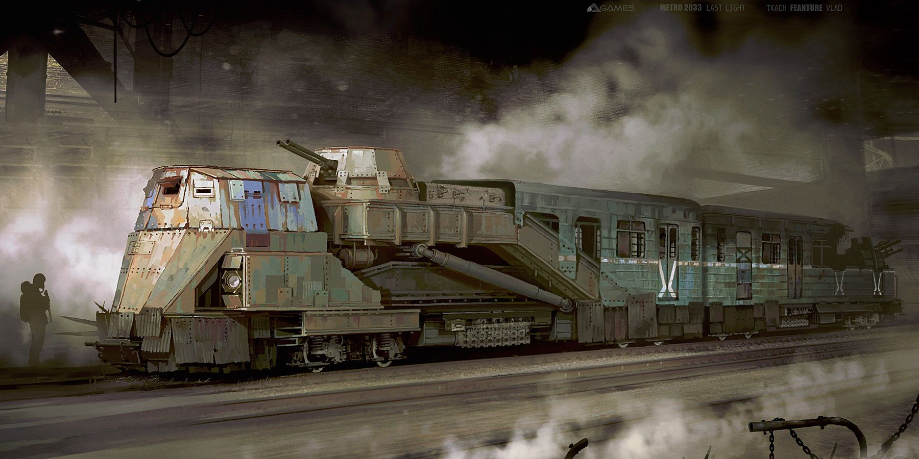 Armoured train Concept art for Metro 2033 Last Light by