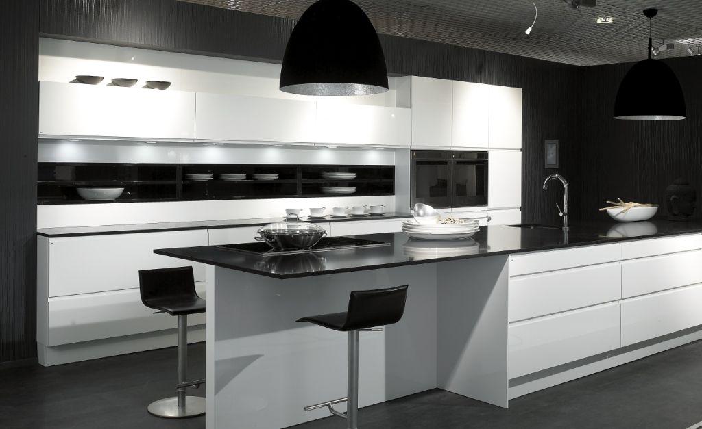 Beautiful black and white modern ALNO kitchen Kitchen Inspiration