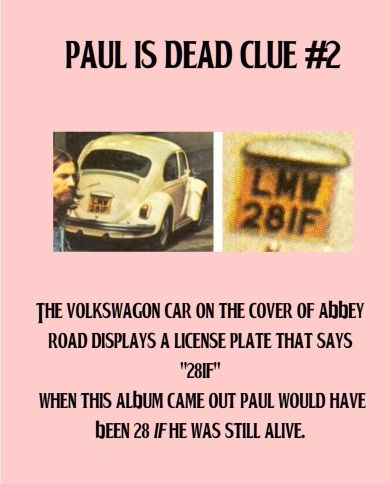 Paul is dead - clue #2 | The finest drug is made of music