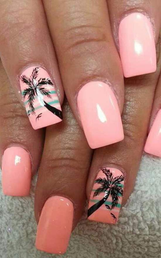 50 Tropical Nail Art Designs For Summer - 50 Tropical Nail Art Designs For Summer Nails Designs