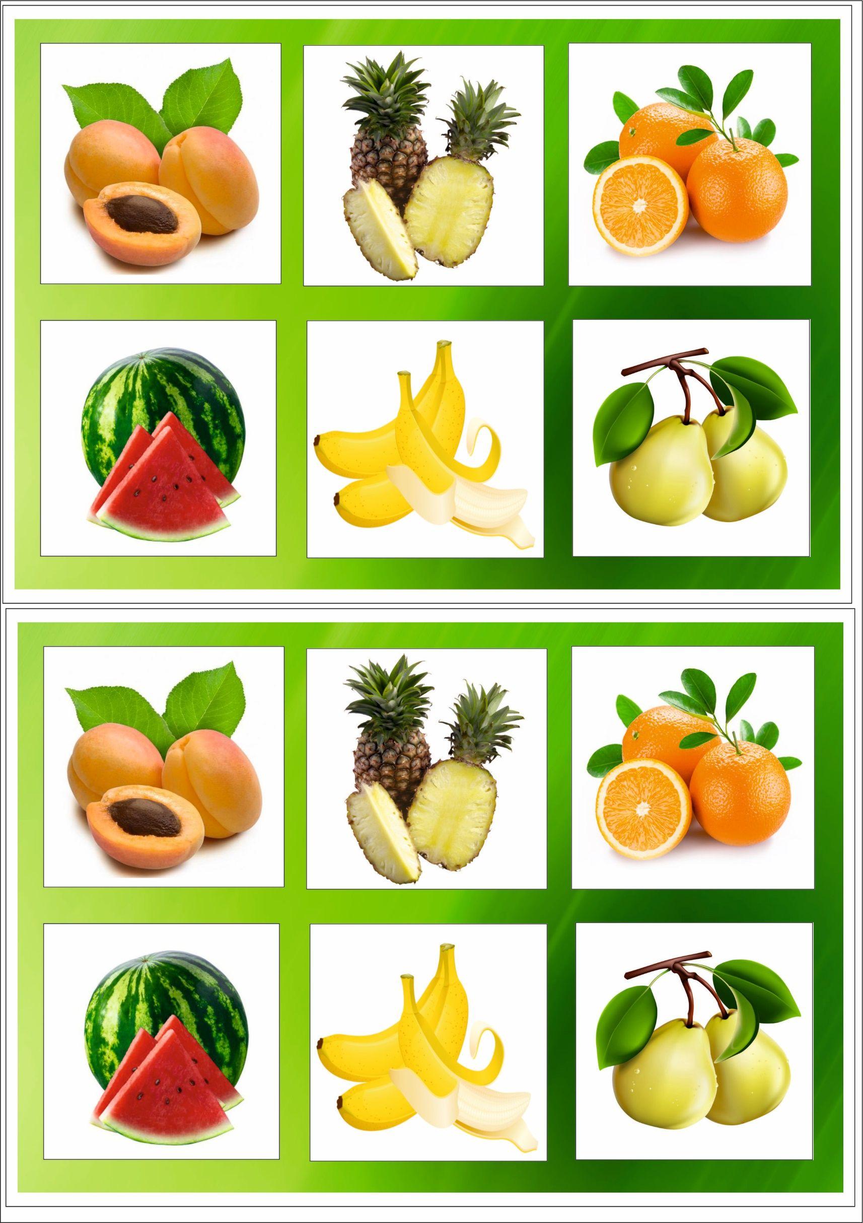 Картинки ягоды и фрукты для детей дошкольников, как