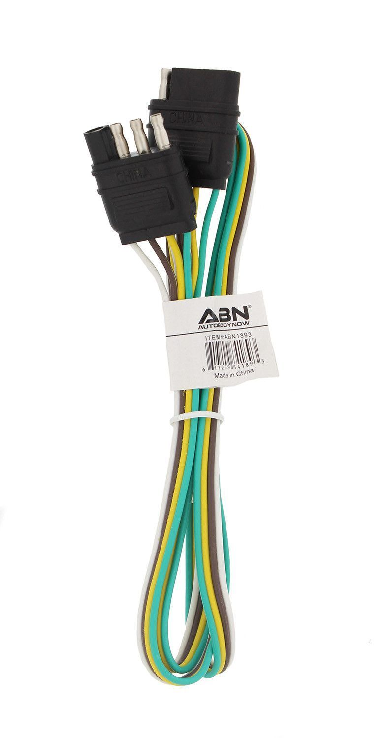 Abn 4 Way 4 Pin Plug 20 Gauge Trailer Light Wiring Harness Extension Musthaveboataccessories Trailer Light Wiring Light Trailer Fifth Wheel Trailers