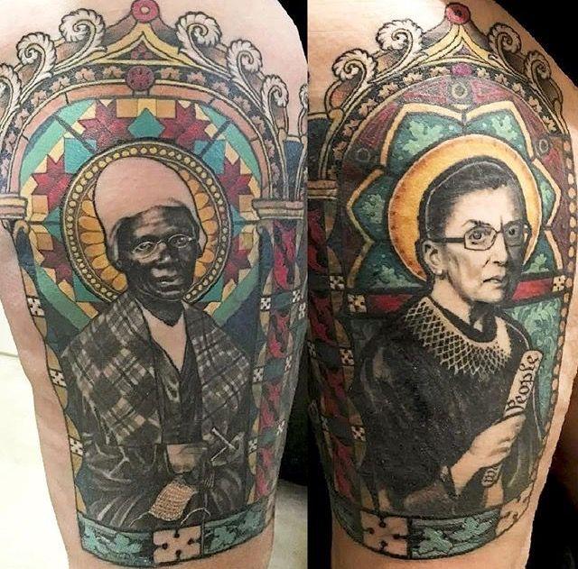 Ruth Ginsburg Tattoo By Tanya Wischerath Tattoos Tattoo Artists Portrait Tattoo