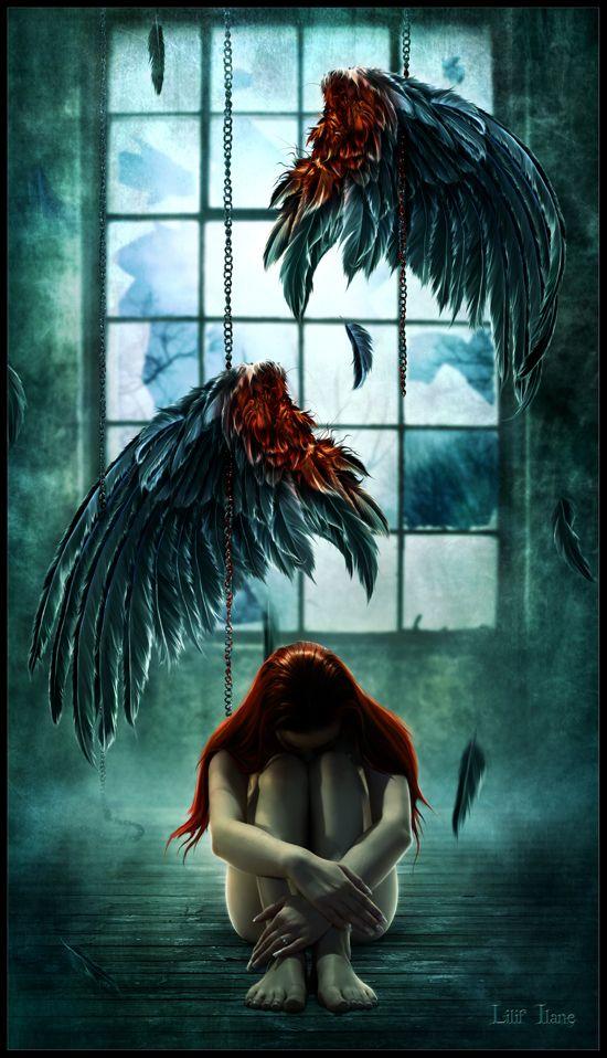 Fallen Angel The Nephilim Liliflane Kartiny S Angelom