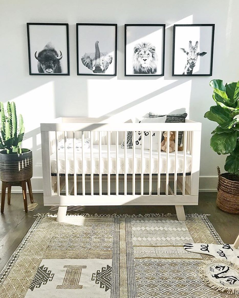 gender neutral nursery decor boho chic animal themed nursery ...