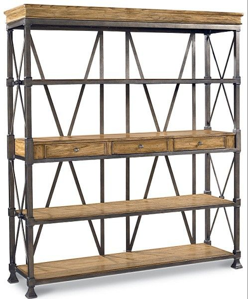 Iron Bookcase Lofe Wood