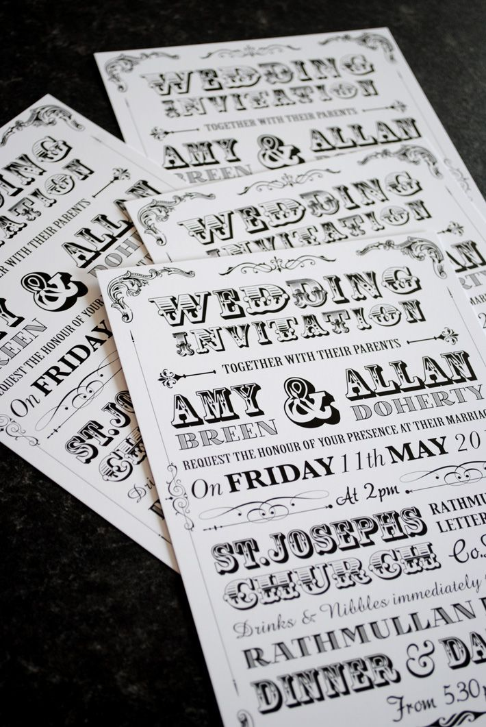 vintage poster style wedding invitations uk and ireland - Vintage Style Wedding Invitations
