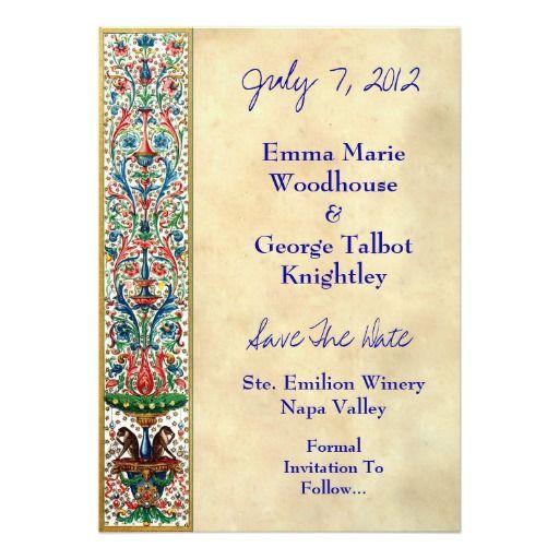 """jeweled medieval manuscript invitation card """" x """" invitation, invitation samples"""