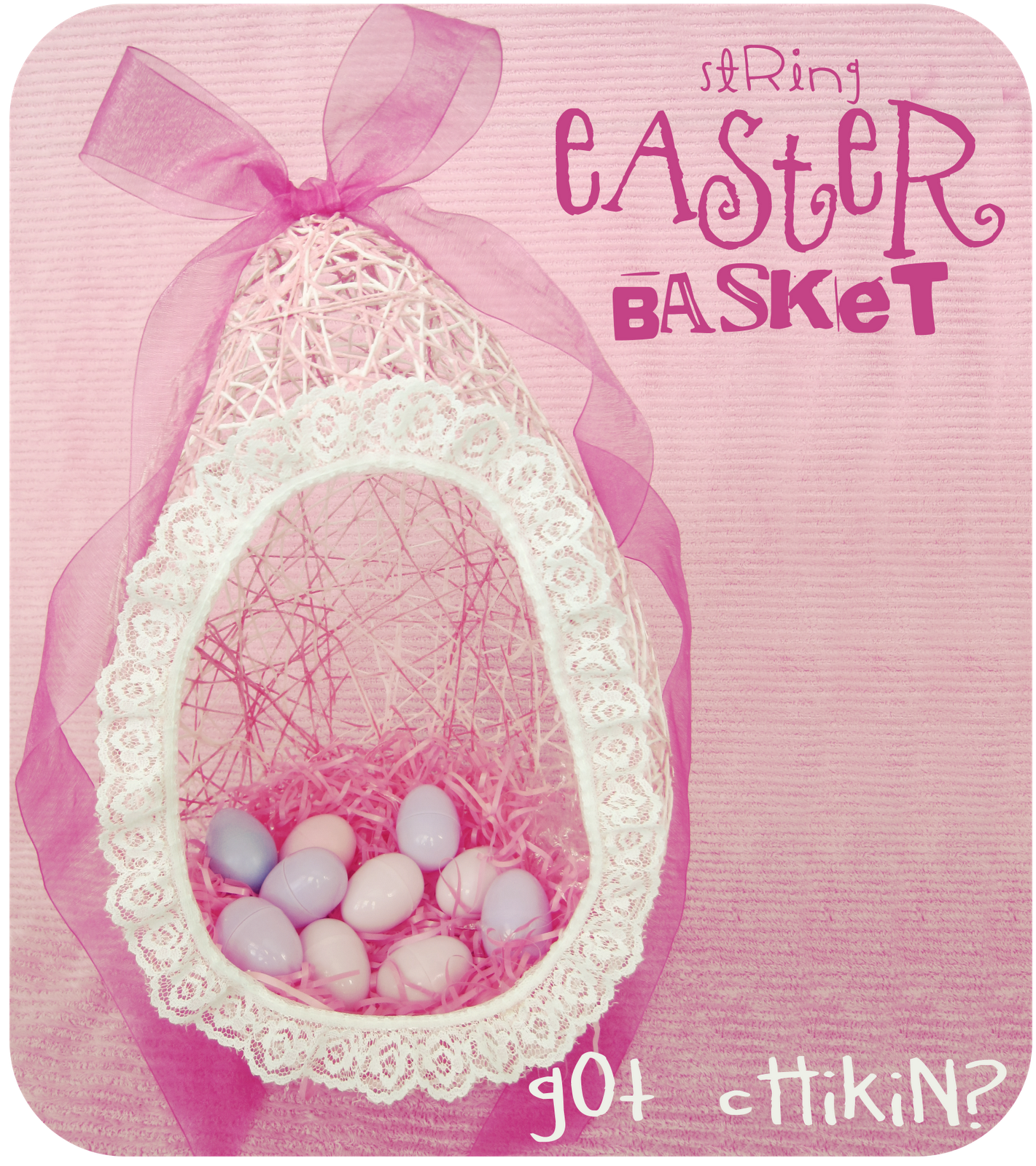 Diy stringyarn easter baskets been wanting to make these for kid easter baskets unique homemade and creative ideas 2015 2016 negle Image collections
