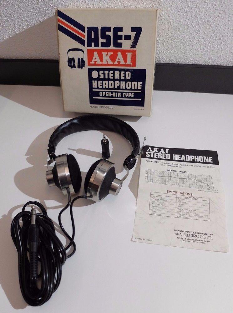 4de308d45e0 Open Air Type Headphone. werden entnommen. AKAI - ASE 7. Technisch und  optisch