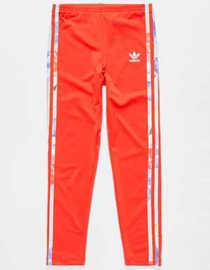 583f9dc152c ADIDAS Flower Girls Leggings Red | CL0TH3$ | Adidas pants, Adidas ...