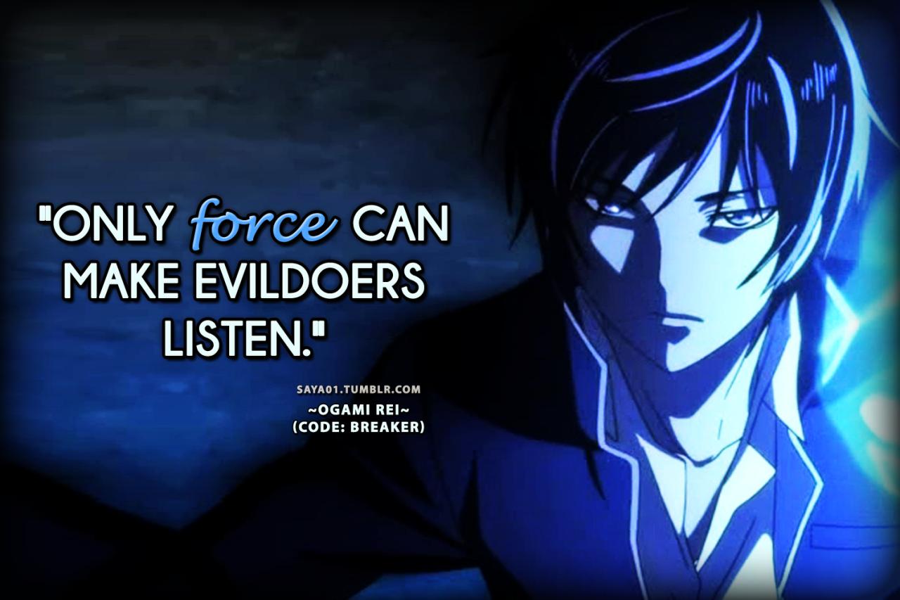 "CODE; BREAKER ANIME LIST "" Anime, Manga quotes, Breakers"