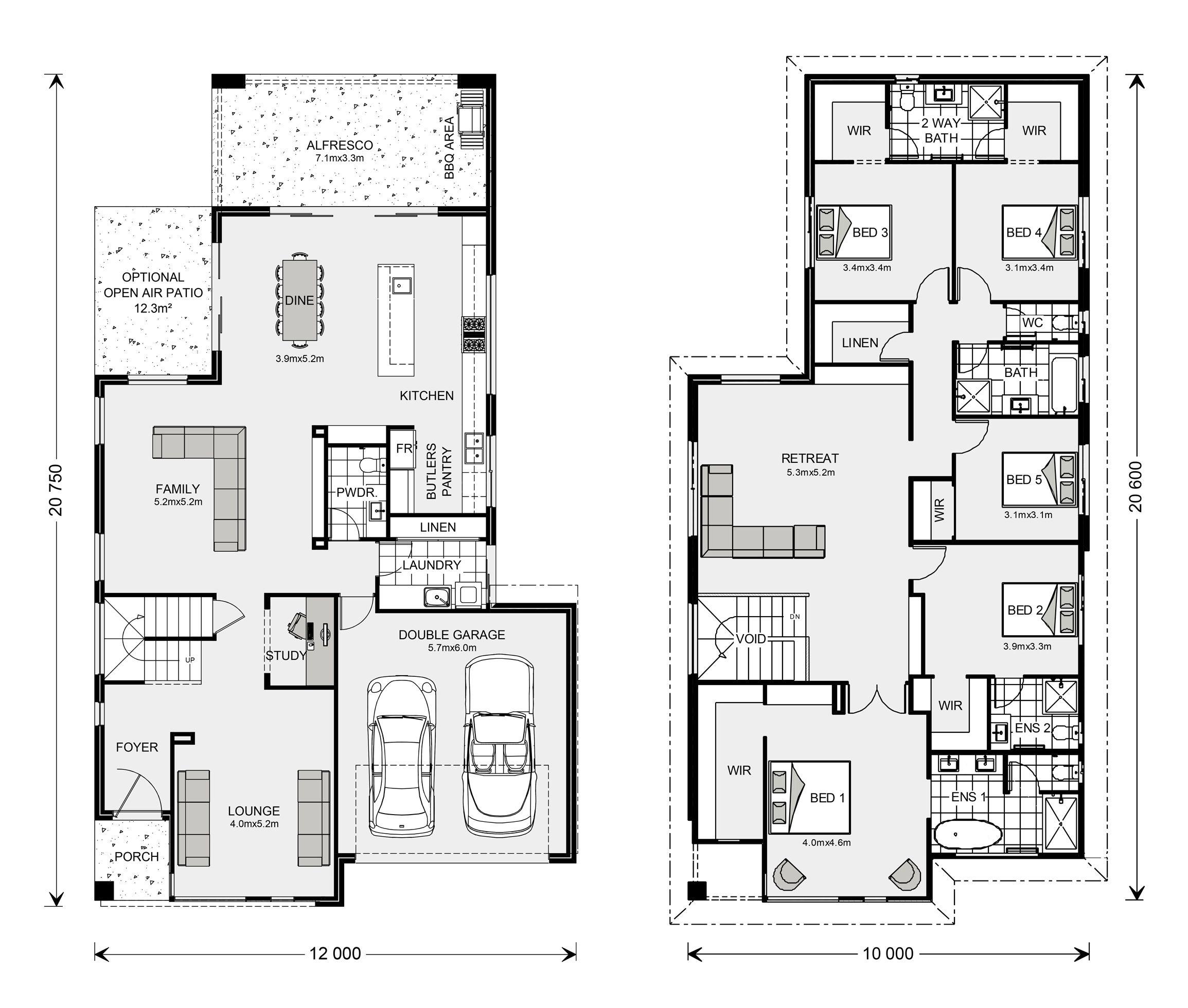 Bayview 370 Home Designs In Sydney North Brookvale G J Gardner Homes House Plans House Design Floor Plans