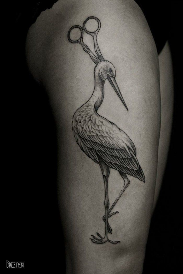 Surreal Tattoos By Belarussian Tattoo Artist Ilya Brezinski - Surreal black ink tattoos by ilya brezinski