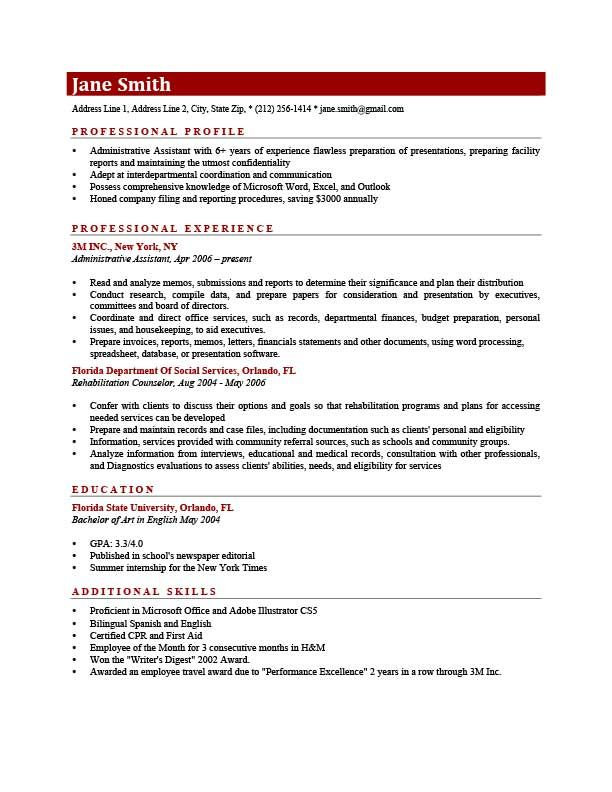 Additional Skills On Resume Awesome Resume Template Connery Brick Red  Resumes  Pinterest  Template .