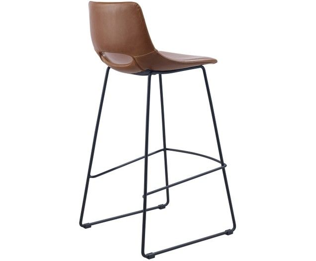 Kunstleder Barstuhle Zahara 2 Stuck Bar Stools Stool Fabric Dining Chairs