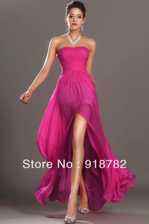 New Designer Dresses 2013 New Fashion Strapless Short Front